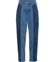 jeans paperbag con applicazioni in cotone biologico (blu) - rainbow