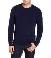men's nordstrom cashmere crewneck sweater, size large - blue