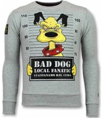 sweater local fanatic bad dog trui - cartoon sweater -