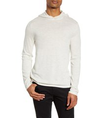 men's vince wool & cashmere pullover hoodie, size small - white