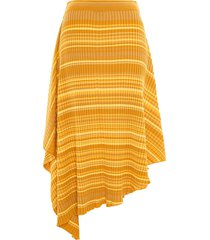 jw anderson striped ribbed infinity skirt - yellow