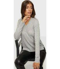 calvin klein ls wool blend pointelle sweater stickade tröjor