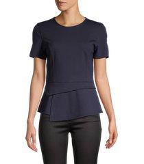 bcbgeneration women's crewneck short-sleeve top - charlock - size m