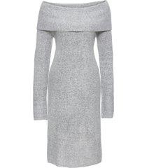 abito in maglia con spalle scoperte (grigio) - bodyflirt