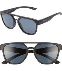 women's smith agency 54mm chromapop(tm) polarized flat top sunglasses -