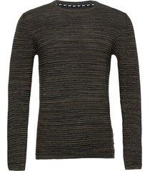 6182740, knit - sdstruan stickad tröja m. rund krage grön solid
