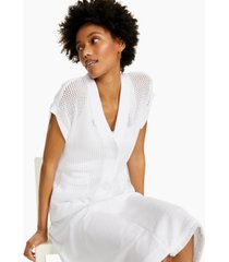 alfani petite cotton short-sleeve cardigan, created for macy's