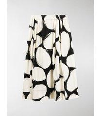 marni pebbles print midi skirt