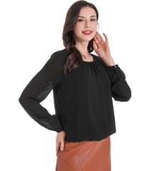 blusa base elasticada negro nicopoly