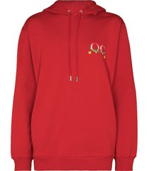 opening ceremony phone print hoodie - red