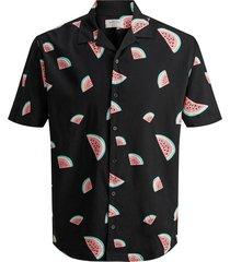 overhemd met korte mouwen fruit print