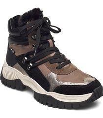 woms boots höga sneakers brun tamaris