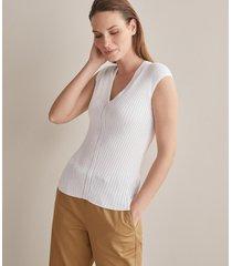 maglia costina seta cotone