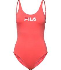women saidi swim suit baddräkt badkläder orange fila