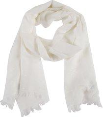 brunello cucinelli bead applique frayed scarf