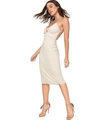 vestido my favorite thing(s) midi recorte off-white