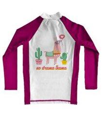 camiseta de lycra comfy lhama rosa