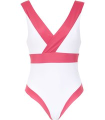 brigitte panelled swimsuit - pink