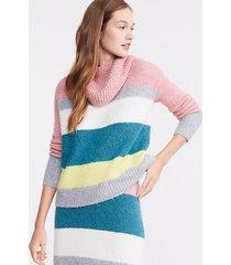 loft lou & grey striped plushfuzz turtleneck sweater