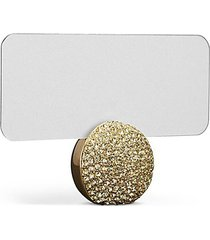 pavé crystal sphere place card holder set
