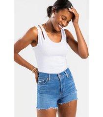 levi's® slight distressed shorts - medium wash