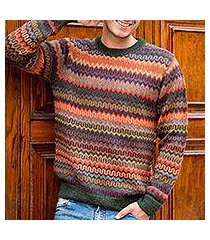 men's 100% alpaca sweater, 'andean homeland' (peru)
