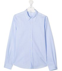 bonpoint teen pointed collar shirt - blue