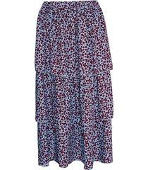 noella noella nala kjol bourgogne/ljusblå blommor