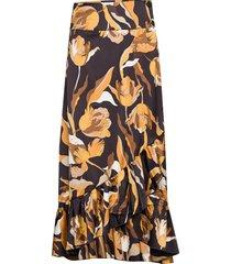tammy long skirt knälång kjol brun twist & tango