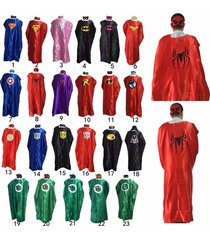 110cm/140cm adult superhero cape and masks halloween costume party favors new