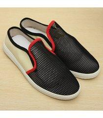 zapatos tenis sandalias casual malla respirable -negro