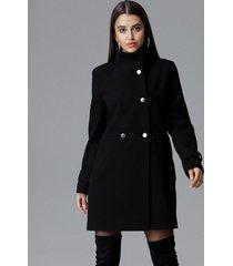 płaszcz dwurzędowy ze stójką