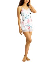 linea donatella noralee lace-trim chemise nightgown
