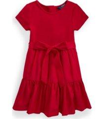 toddler girls tiered stretch interlock dress