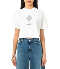 amish t-shirt donna cropped jersey sw p21amd202ca16xxx4