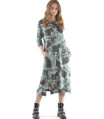 vestido estampado lanilla calipso bous