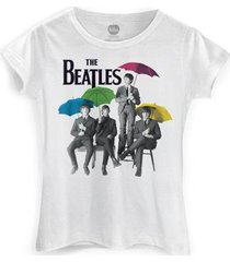 camiseta bandup! feminina the beatles umbrella colors