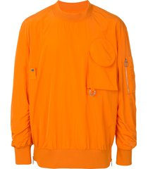wooyoungmi pull over bomber jumper - orange