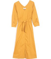 gabriette waist tie dress in honey
