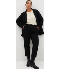 cropped slim-fit broek
