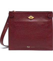 'stowaway' buffalo leather crossbody bag