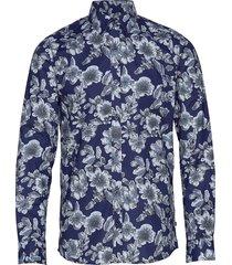 robo city flower overhemd casual blauw matinique