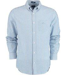 gant overhemd seersucker blauw rf 3033230/422