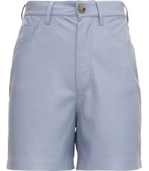 nanushka leana shorts in sugar paper vegan leather