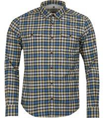 output geruit slim fit overhemd