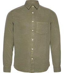 comfort tencel slim shirt overhemd casual groen j. lindeberg