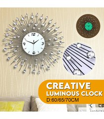 luminosa reloj moderno salón grande de la moda del reloj luminoso creativo - sesenta y cinco