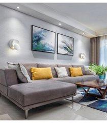 creativo sencillo dormitorio moderno lámpara de noche la sala de estar escalera pasillo de la lámpara de pared led redonda media luna - cálida luz blanca +