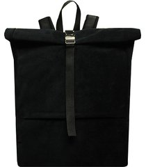 plecak aksamitny czarny handmade