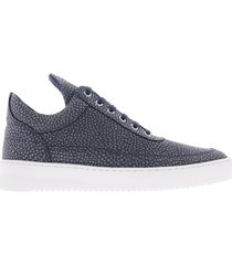 low top ripple moor blauw